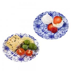 Canape Plates ~ Porcelain Blue