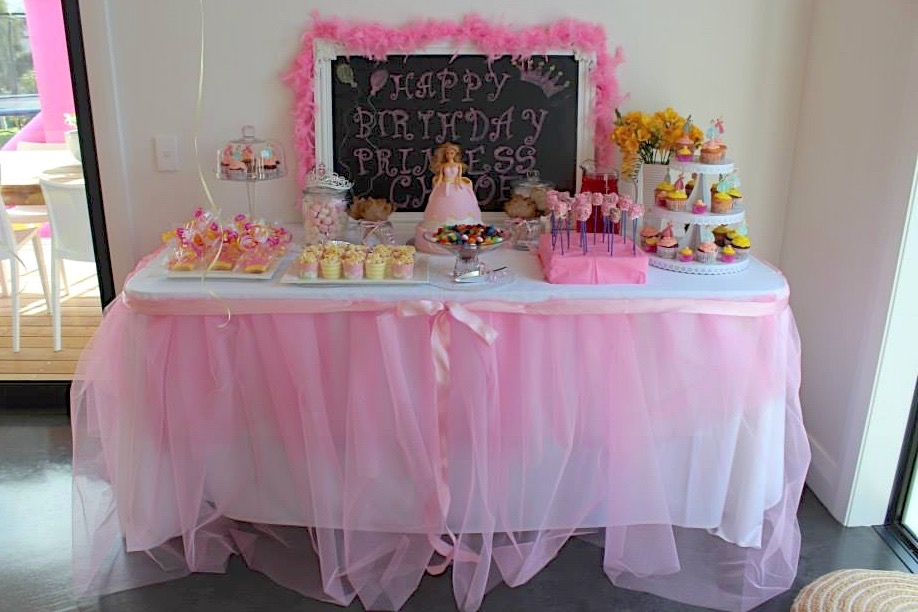Princess Party Food and Dessert Buffet
