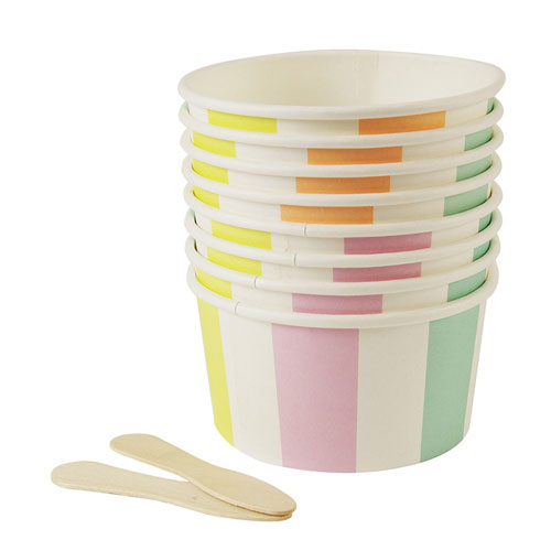 Toot Sweet Stripe Ice Cream / Candy Cups