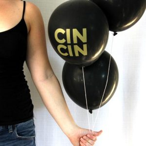 Black & Gold Cin Cin Balloons