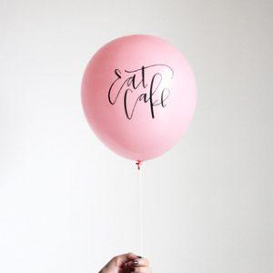 Eat Cake Balloons