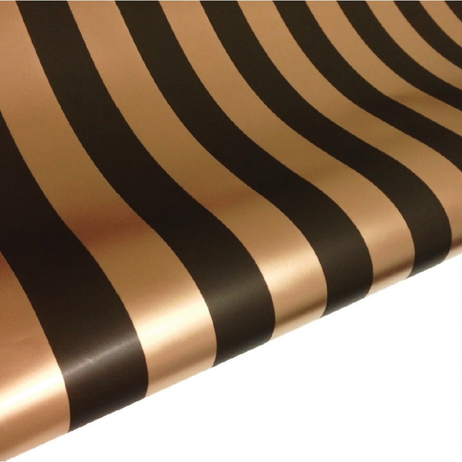 Table Runner / Gift Wrap ~ Black & Gold Stripe