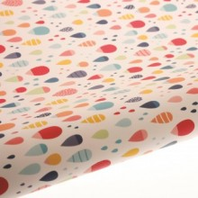 Table Runner / Gift Wrap ~ Raindrops Multi