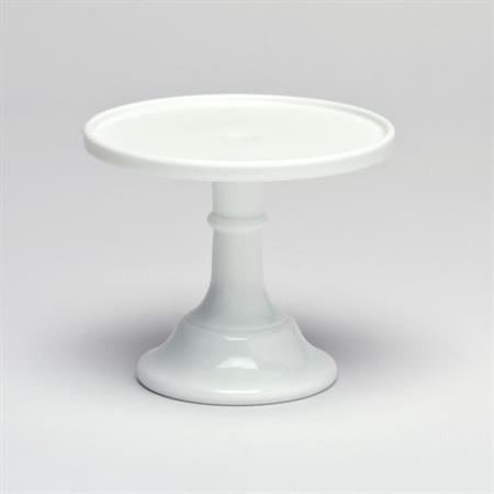 Milk Glass Pedestal ~ 16cm White