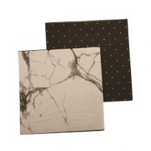 Paper Napkins ~ Marble / Black Pegboard