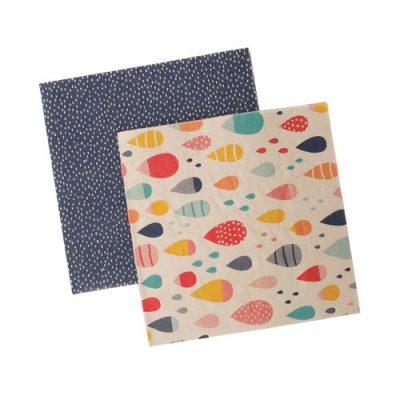 Paper Napkins ~ Raindrops Multi
