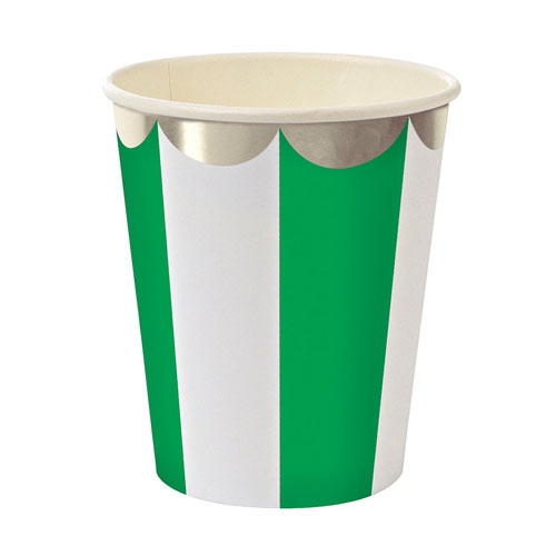 Paper Cups ~ Toot Sweet Green