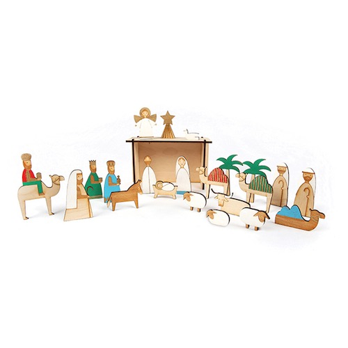 Wooden Nativity Advent Calendar by Meri Meri available in NZ.