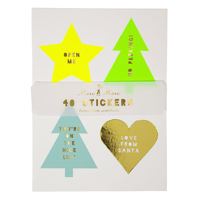 Neon Christmas Stickers