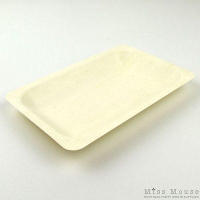 Medium wooden plates
