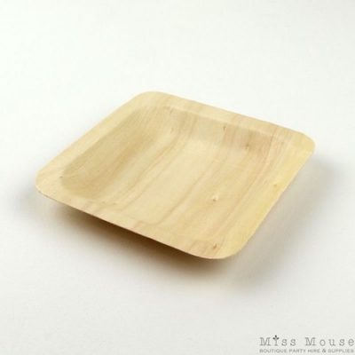 Small wooden plates