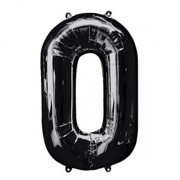 Supershape Black Balloon ~ Number 0