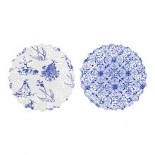 Party Porcelain Blue Mini Doilies