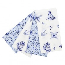 Party Porcelain Blue Picnic Napkins