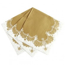 Party Porcelain Gold Paper Napkins