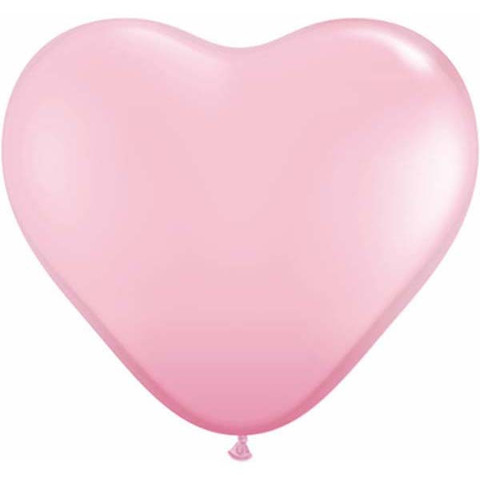 Pink Heart Latex Balloons