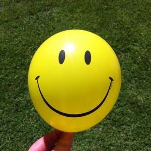 Yellow Smile Face Mini Balloons