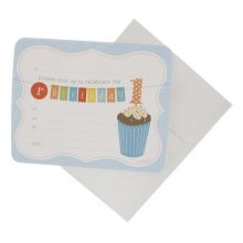 Invitations ~ 1st Birthday Blue