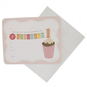 Invitations ~ 1st Birthday Pink