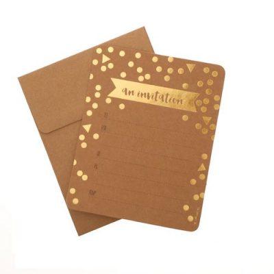 Invitations ~ Kraft & Foil Confetti