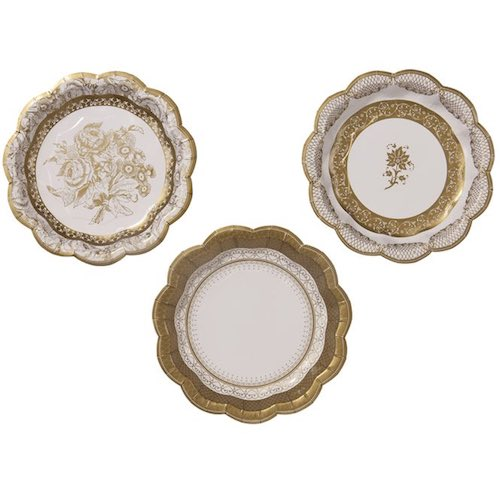 Party Porcelain Gold Small Plates