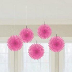 Pink Mini Paper Fans