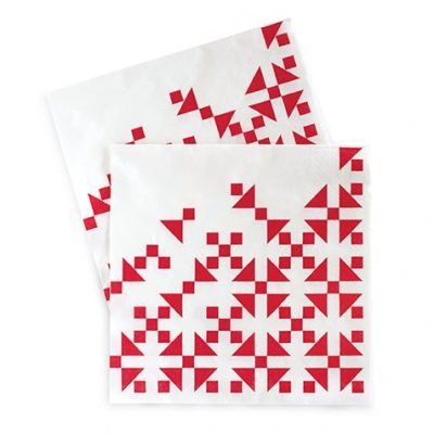 The Aztec Red paper napkins will make a bold statement at your next event.