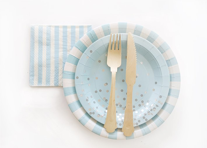 The blue, white and silver range which is perfect for a gender reveal party.