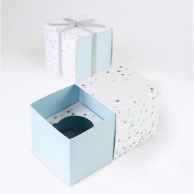 Blue Confetti Cupcake Gift Boxes