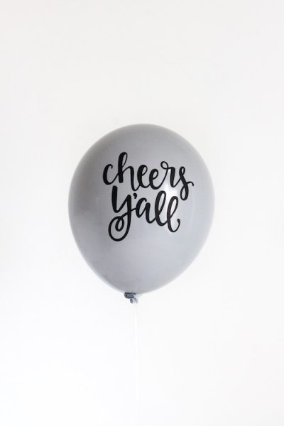 Cheers Y'all balloons are perfect for new years eve celebrations.