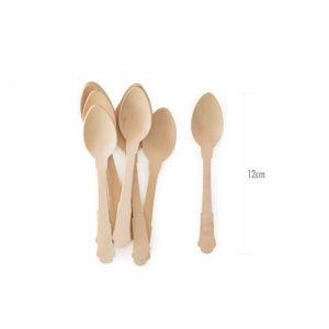 Shop our cutlery range for these deluxe wooden dessert spoons.