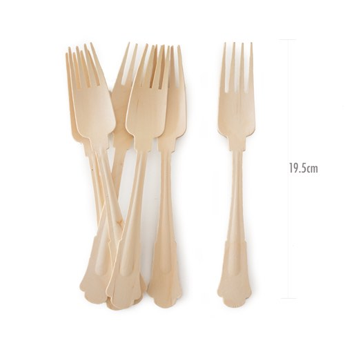 Our deluxe wooden forks are disposable, eco-friendly and made from birchwood.