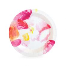 These Floral Escape dessert plates are a pretty paper plate perfect for very special events.