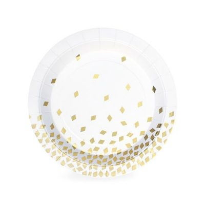 The Geo Gold Crush dessert plates by Paper Eskimo are a wonderful option for your grown up party!