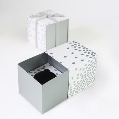 Geo Silver Cupcake Gift Boxes by Paper Eskimo