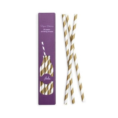 Use our Gold Crush Paper Straws to add some retro glamour to your party drinks