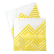 The Hello Yellow paper napkins by Paper Eskimo feature a fun yellow stripe design.