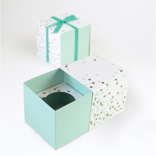 Mint Confetti Cupcake Gift boxes