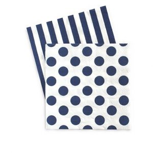 The Naut So Navy Paper Napkins are perfect for serving with cocktails or tending to sticky fingers!