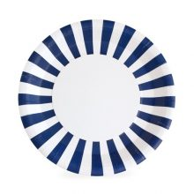 The Naut so Navy paper plates by Paper Eskimo are a show stopper with their navy blue and white stripes.