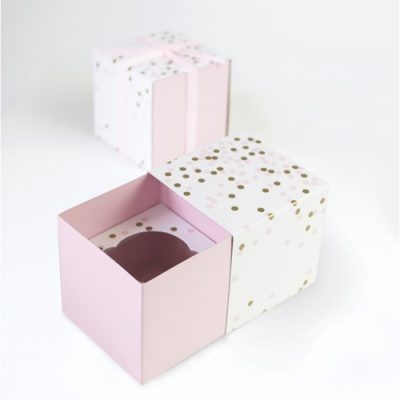 Pink Confetti Cupcake Gift Boxes
