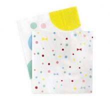 The Summer Bows paper napkins by Paper Eskimo feature spots and bows in pastel colours.