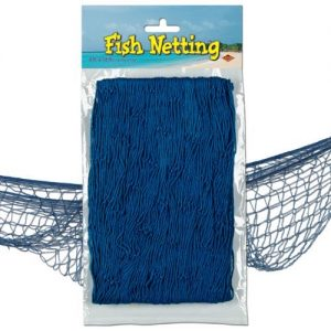 Our Blue Fish Netting is perfect for your pirate party!