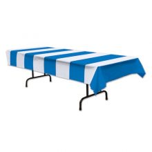 Blue & White Stripe Table Cover