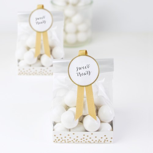 Gold Crush Treat Bags by Paper Eskimo are perfect for wedding favours!