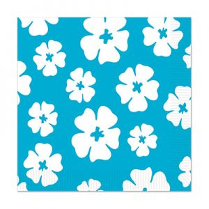 Hibiscus Paper Napkins for a Hawaiian Luau party!