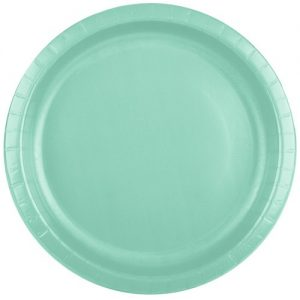 Fresh Mint Green Paper Plates from the Touch of Colour range by Creative Converting.