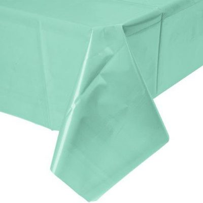 Our Fresh Mint Green Table Cover is a great plastic table cloth option!