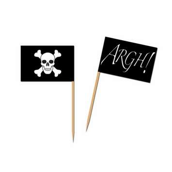 Pirate flag picks for party food and cupcakes.