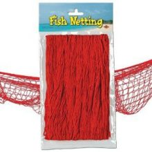 Red fish netting for your pirate party!